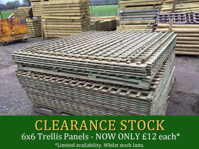 Clearance Stock Holmbush Fencing