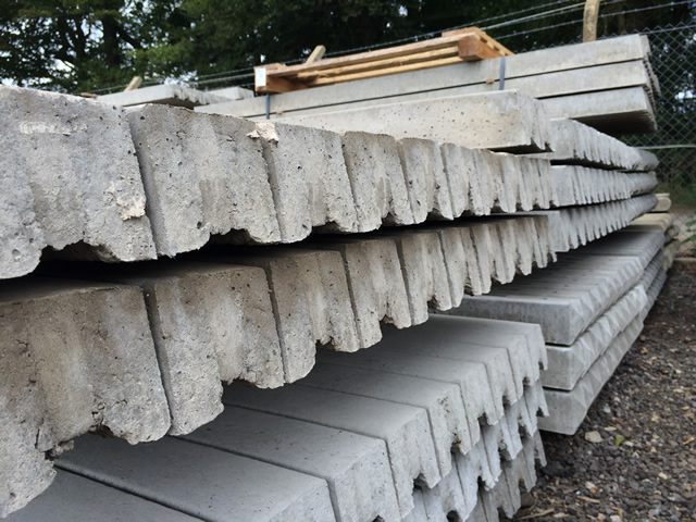 Morticed Concrete Fence Posts Main Image
