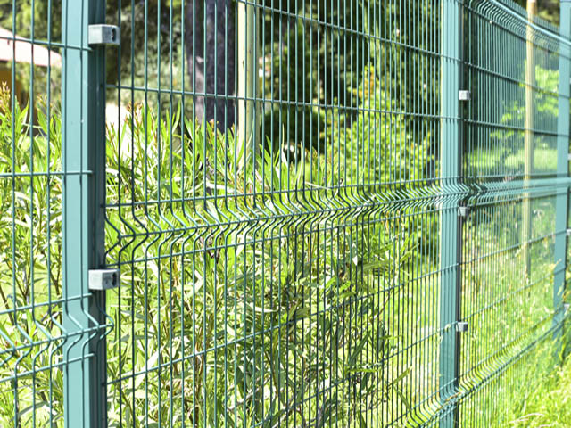 Example of Security Fencing in Green