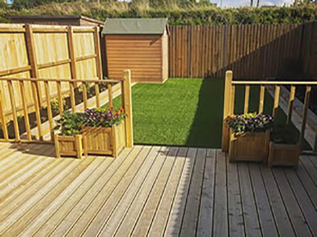 Garden Decking in Garden